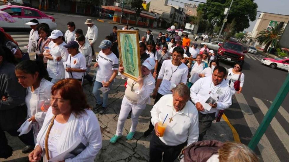 Realizan peregrinación a la Basílica feligreses de sacerdote implicado en homicidio - peregrinación