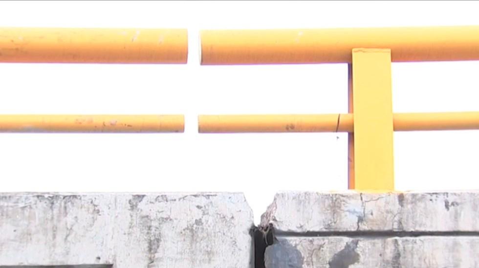 #Video Denuncian puente dañado en Iztacalco - puente iztacalco