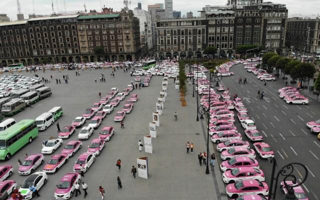 Importa la movilidad de los ciudadanos: Sheinbaum - Taxista taxis taxi Ciudad de México manifestación Sheinbaum
