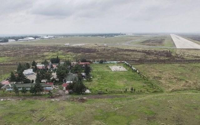 Niegan suspensión definitiva para cancelar obras en Santa Lucía - Terrenos de la Base Aérea de Santa Lucía para nuevo aeropuerto. Foto de Forbes