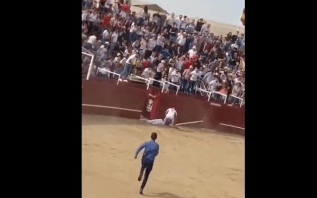 #Video Muere hombre por cornada de toro en España - Captura de pantalla