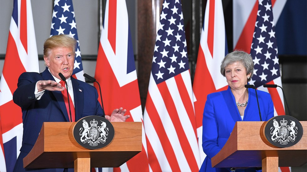 Donald Trump ofrece a May nuevo acuerdo comercial tras Brexit - Trump ofrece a May acuerdo comercial tras brexit