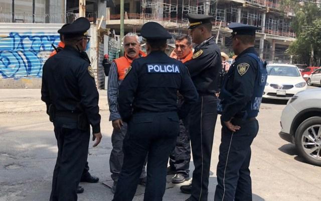 Persona cae en construcción de Torre Mitikah en Xoco - Benito Juárez Xoco persona cae Torre Mitikah