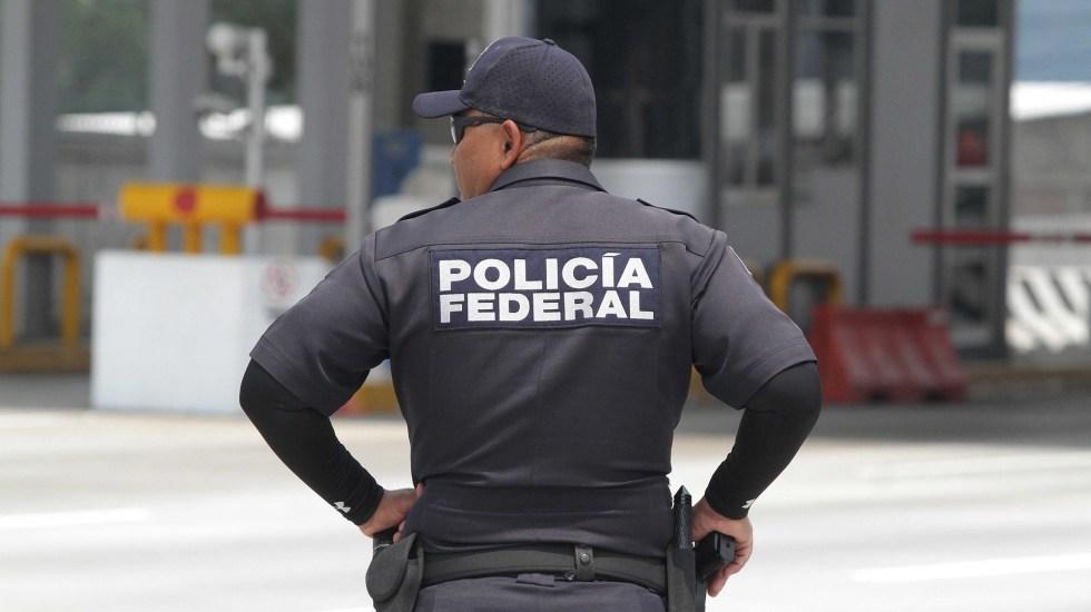 Desaparece la Policía Federal tras 90 años de servicio - Agente de la Policía Federal. Foto de Notimex