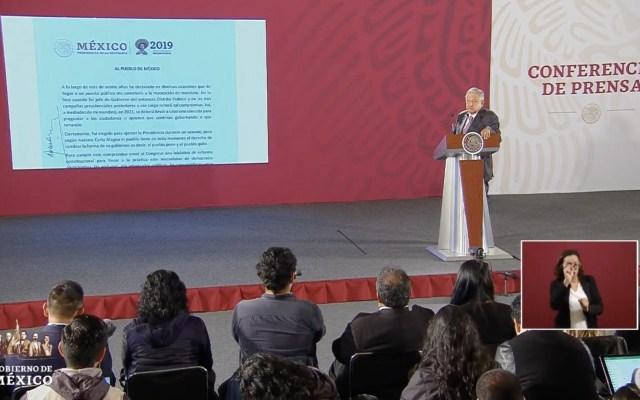 López Obrador firmará ante notario carta antireelección - López Obrador reelección