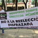 Se manifiestan en el Ángel contra extensión de mandato en BC
