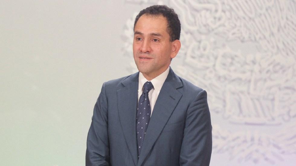 Arturo Herrera se ausentó de reunión sobre Plan de Negocios de Pemex - Arturo Herrera durante su conferencia de prensa como recién nombrado secretario de Hacienda. Foto de Notimex