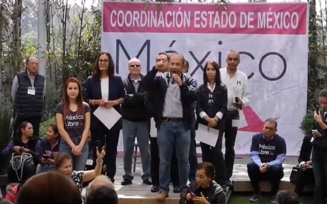 #Video Felipe Calderón denuncia boicot contra México Libre en Naucalpan - Asamblea distrital de México Libre en Naucalpan. Captura de pantalla / @MZavalaEdoMex