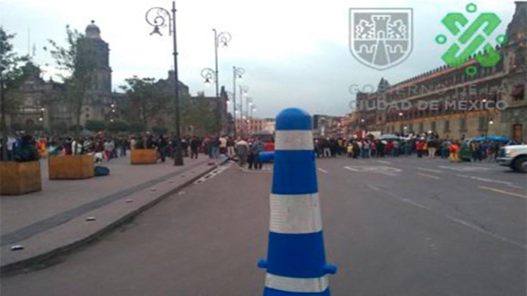 Campesinos realizan protesta frente a Palacio Nacional - campesinos palacio nacional