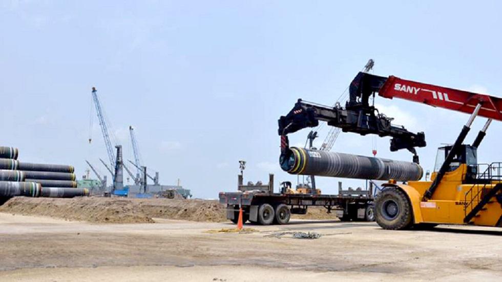 Casi lista renegociación por gasoductos: WSJ - Construcción del gasoducto Texas-Tuxpan. Foto de Sener