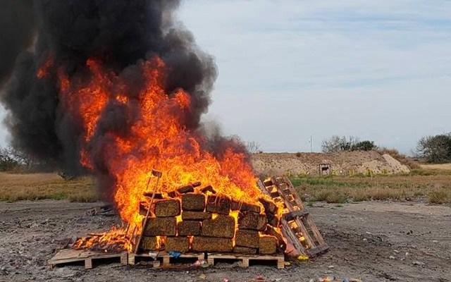FGR de Baja California incinera más de seis toneladas de narcóticos - droga