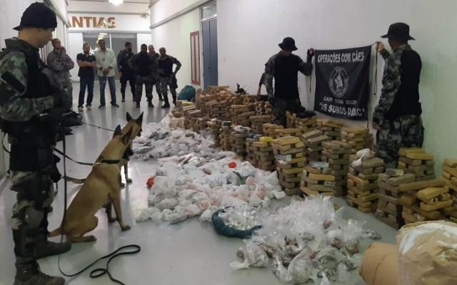 Policía Militar de Brasil decomisa dos toneladas de droga - Drogas Brasil Policía Militar decomiso