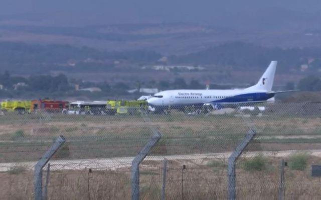 #Video Aterriza de emergencia avión con más de 150 pasajeros - aterrizaje de emergencia boeing tel aviv