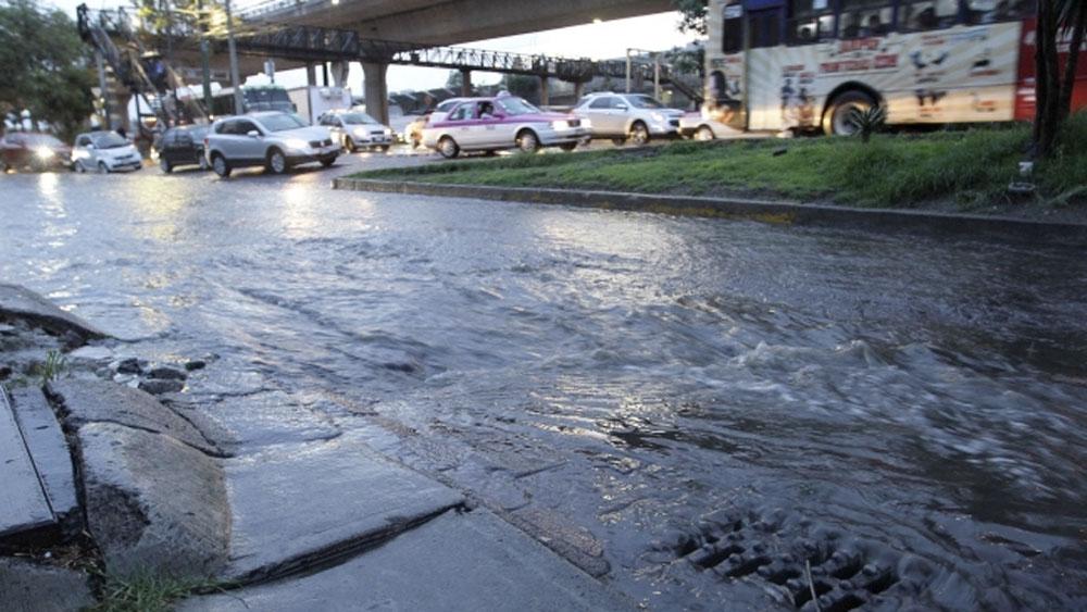 Lluvias dejan encharcamientos y árboles caídos en la Ciudad de México - encharcamientos lluvias