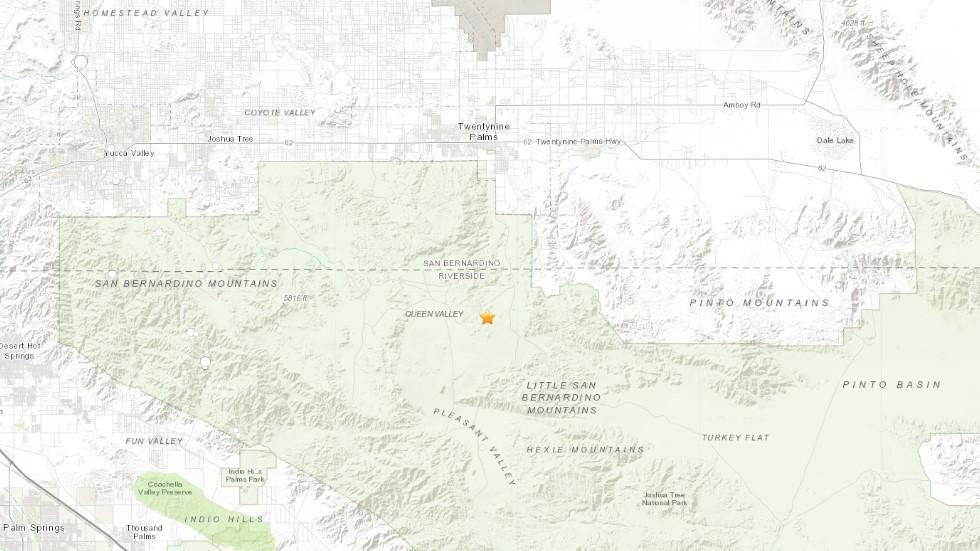 Epicentro del sismo menor en California. Captura de pantalla / USGS