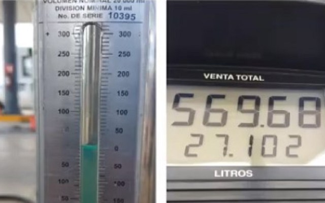 Profeco localiza gasolinera en Quintana Roo que daba siete litros menos - Litros de menos en gasolinera. Captura de pantalla