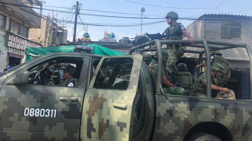 SSC capitalina debe entregar diagnóstico ante creación de la Guardia Nacional - Guardia Nacional en Iztapalapa. Foto de Notimex