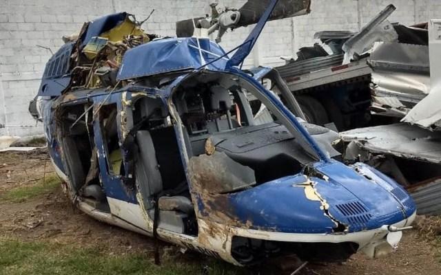 Sale libre policía estatal relacionado a desplome de helicóptero en Edomex - Helicóptero FGR Estado de México derribo