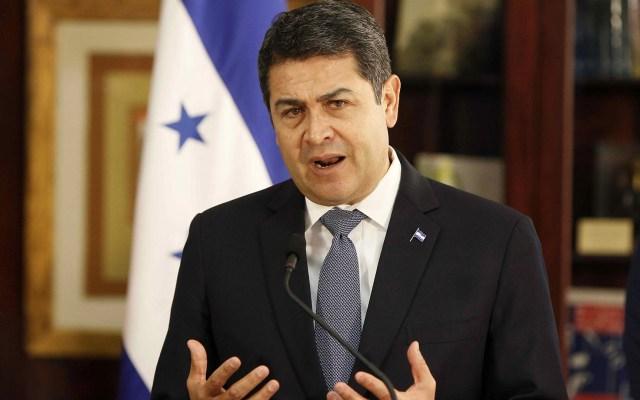 """Presidencia de Honduras rechaza que Hernández haya recibido dinero del """"Chapo"""" - Juan Orlando Hernández, presidente de Honduras. Foto de EFE"""