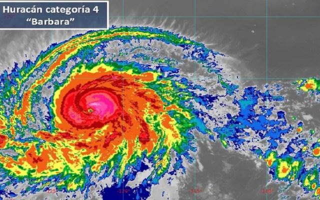 'Bárbara' escala a huracán categoría 4 - Huracán Bárbara. Foto de Conagua