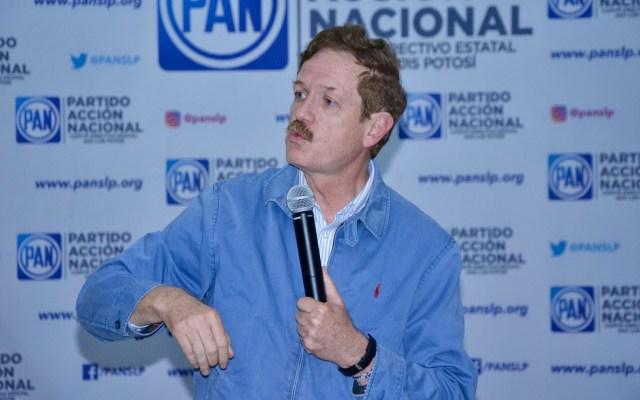 Romero Hicks llama a AMLO a mostrar respeto a la Policía Federal - Juan Carlos Romero Hicks durante evento del PAN en San Luis Potosí. Foto de @PANSLP