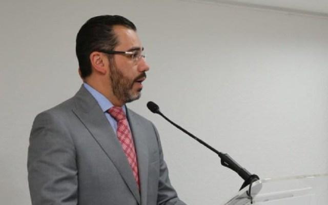Carlos Jiménez denuncia ante FGR a Jesús Orta por amenaza - Jesús Orta en conferencia. Foto de @SSP_CDMX