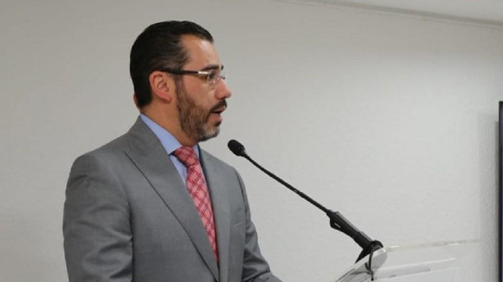 Giran orden de aprehensión contra Jesús Orta, exsecretario de Seguridad capitalino - Jesús Orta en conferencia. Foto de @SSP_CDMX