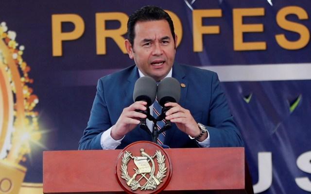 Revocatoria del presidente de Guatemala para negociar tercer país seguro - Jimmy Morales