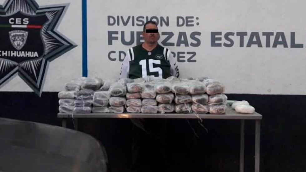 Detienen a integrante de 'La Línea' con más de 45 kilos de droga - la línea ciudad Juárez