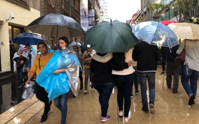 Llueve en ocho alcaldías de la Ciudad de México - Lluvias en la Ciudad de México. Foto de Notimex