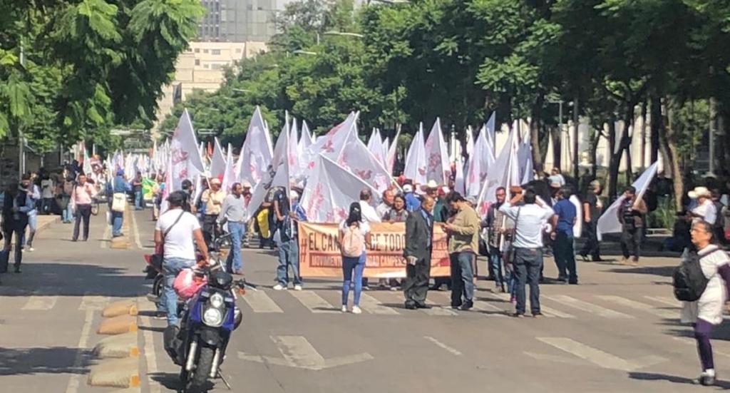 Campesinos protestan en el Zócalo; buscan entregar pliego petitorio a López Obrador. Noticias en tiempo real