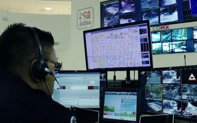 Advierten que llamadas de broma superan el 60 por ciento en vacaciones - Operador del C5 de la CDMX. Captura de pantalla / C5 CDMX