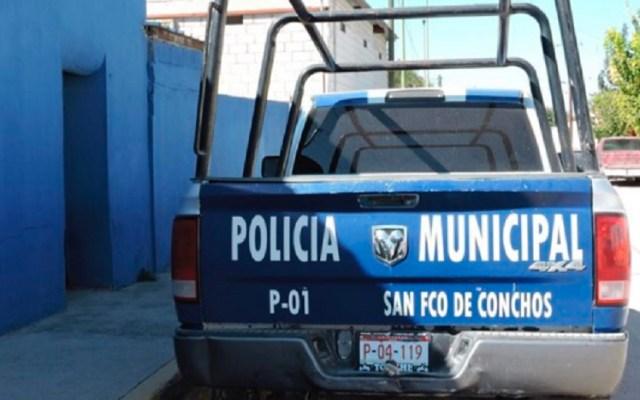 Asesinan a cuatro policías municipales en Chihuahua - Patrulla de San Francisco Conchos, Chihuahua. Foto de Noticieros Parral