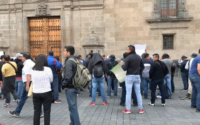 Protestan policías federales en Palacio Nacional - policía federal palacio nacional