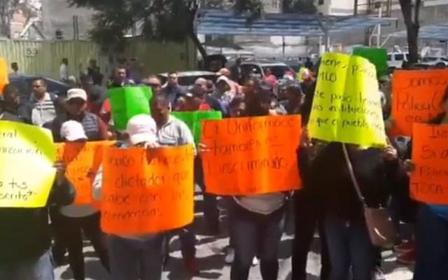 Policías federales protestan en el Senado de la República - Policías federales en el Senado. Captura de pantalla / El Sol de México