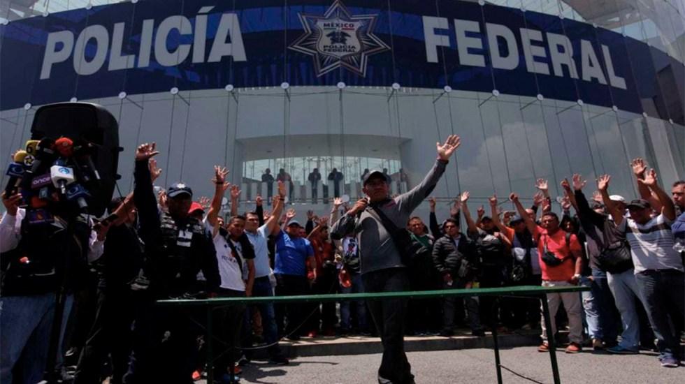 Policías federales desmienten debilitamiento de su movimiento - policías federales indemnizacón movimiento