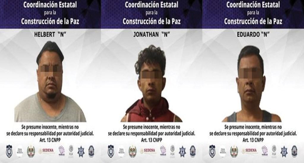 Vinculan a proceso a tres presuntos homicidas en Morelos - Foto de Fiscalía de Morelos