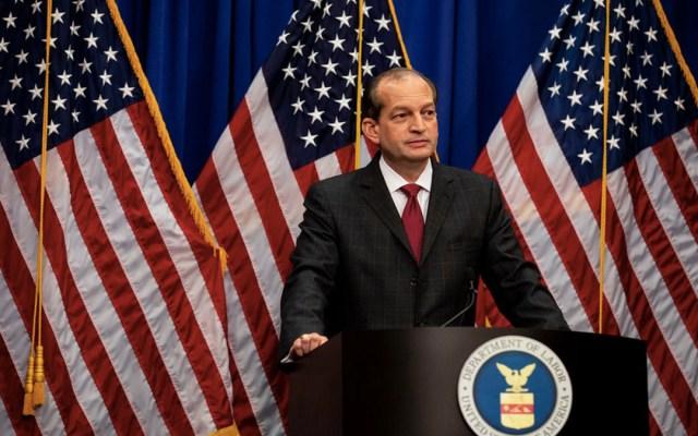 Renuncia secretario del Trabajo de EE.UU. - renuncia alex acosta, secretario del trabajo de trump