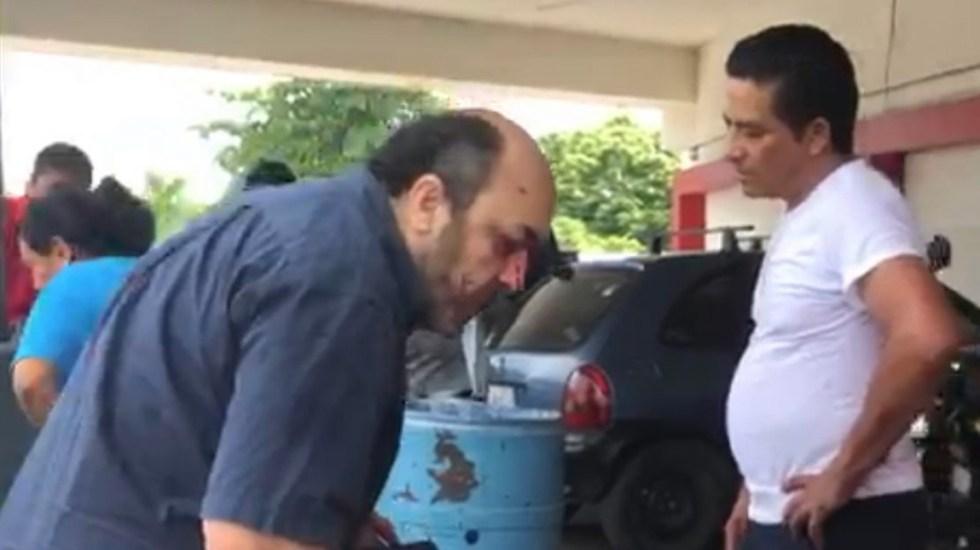 #Video Hombre pierde ojo durante riña en estacionamiento de Veracruz - cuchillo