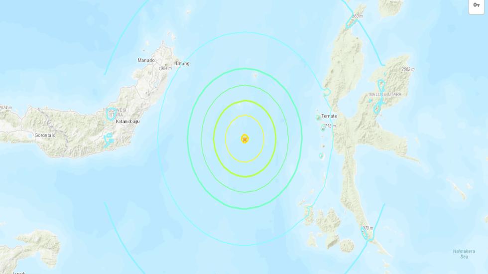 Alerta de tsunami tras terremoto magnitud 7.0 en Indonesia - Foto de USGS.