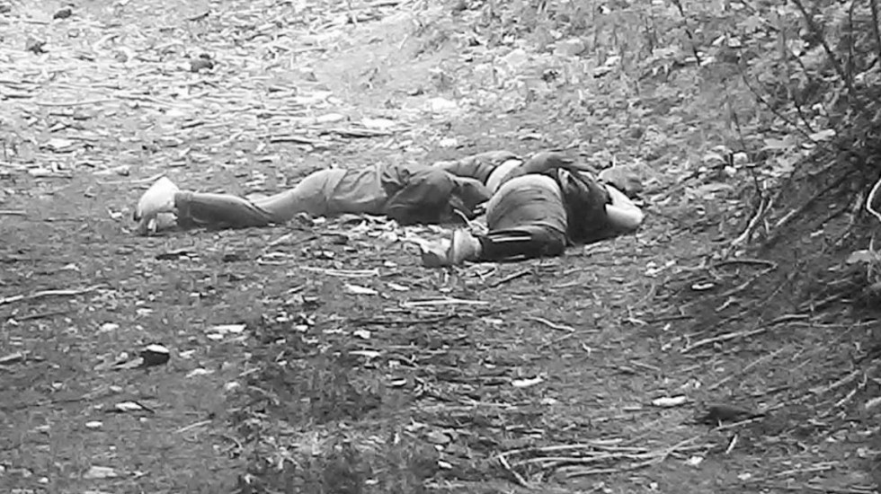 Relacionados con venta de droga 3 de los 4 asesinados en el Ajusco - Tres de los cuatro cuerpos hallados en el Ajusco. Foto de @JAVIERR_RUIZ