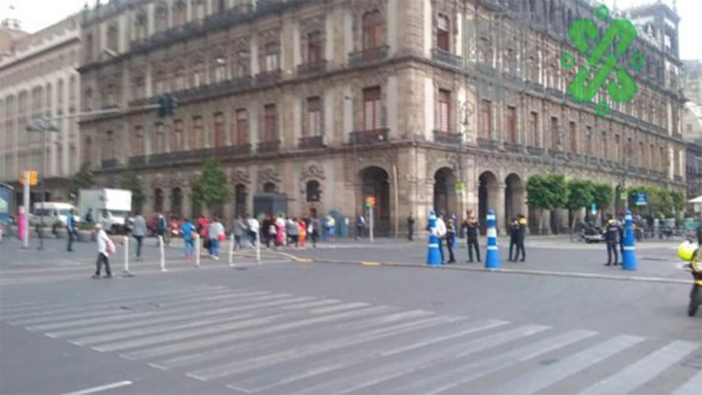 Más de  ocho mil policías vigilarán el Zócalo en evento de AMLO - policías zocalo capitalino
