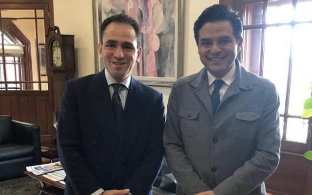Herrera y Robledo acuerdan fortalecer al IMSS - Zoé Robledo y aRTURO herrera IMSS SHCP