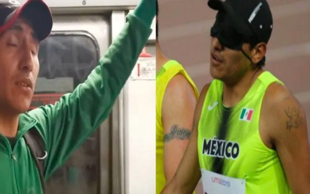 Gana bronce corredor paralímpico que canta en el Metro de la CDMX - Alejandro Pacheco
