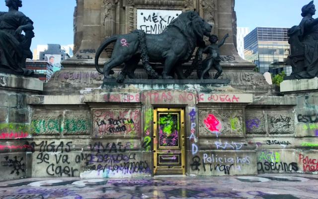 Se puede protestar, pero no se debe rayar el patrimonio: Beatriz Gutiérrez - ángel de la independencia Beatriz Gutiérrez patrimonio