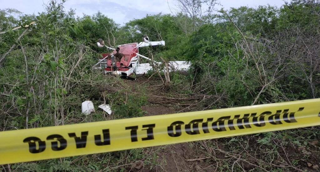 Avioneta se desploma en ejido de Mazatlán - Avioneta desplomada en Mazatlán. Foto Especial