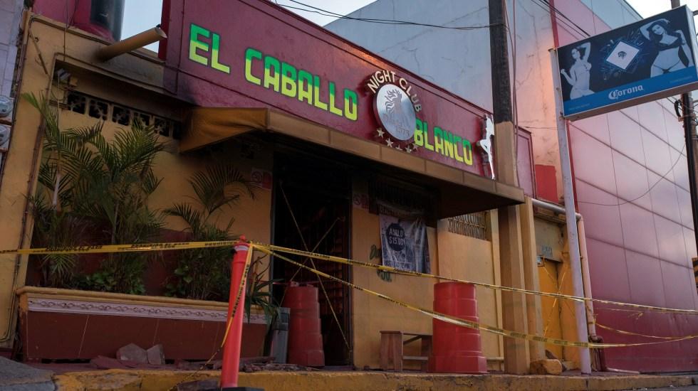 Salma Hayek lamenta masacre en Coatzacoalcos - Bar Caballo Blanco, escenario de masacre en Coatzacoalcos. Foto de EFE
