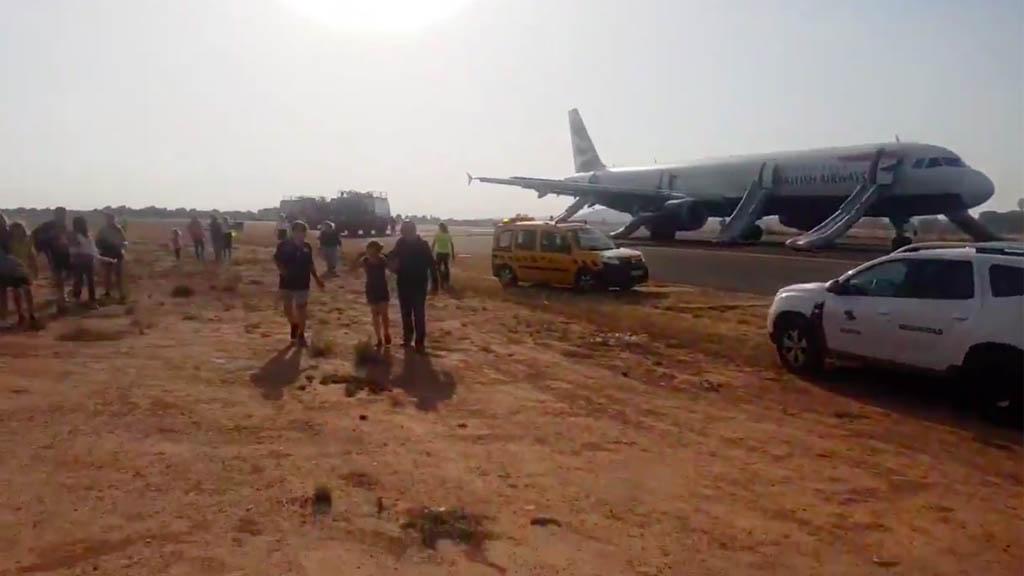 Avión de British Airways aterriza de emergencia en Valencia con fuego en un motor - British Airways avión aterrizaje de emergencia