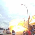#Video Explosión de gasolinera clandestina deja 13 heridos en Camboya