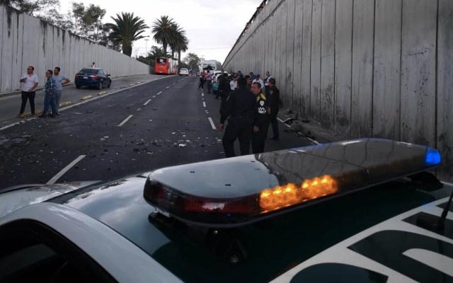 Carambola en Insurgentes Norte deja cuatro lesionados - Carambola accidente Insurgentes Norte